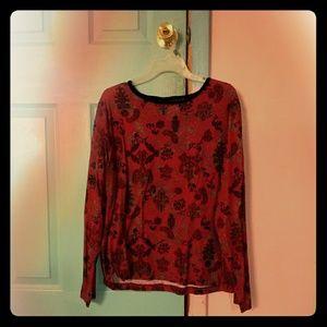 Long Sleeve Red Shirt 1x